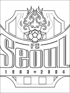korea coloring page south korean professional football club based in seoul south korea