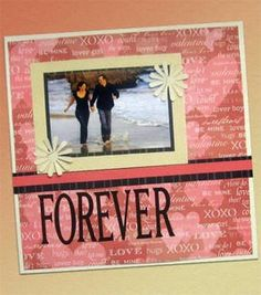 True Love Scrapbook Page