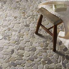 £50 + 7.99 for 5 sheets. White Flat Riverstone Pebble Mosaic Tiles