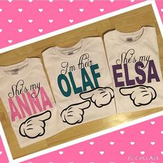 Frozen BFF T-shirts by POMPandPALM on Etsy
