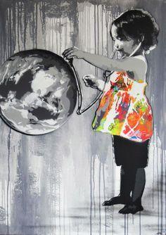 Characters By Kurar - Clermont (France) kids street art Banksy Graffiti, Street Art Graffiti, Bansky, Sticker Art, Urbane Kunst, Art Français, Grafiti, Best Street Art, Street Artists