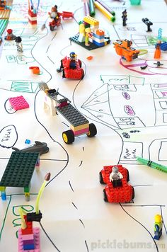 4 Easy Art Activities we did last week - Drawing and Lego