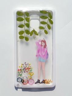Annys workshop手作押花手機保護殼,妃炫少女系列手機保護殼Part 6, Pressed flower phone case
