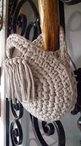 Image result for tshirt yarn crochet bag