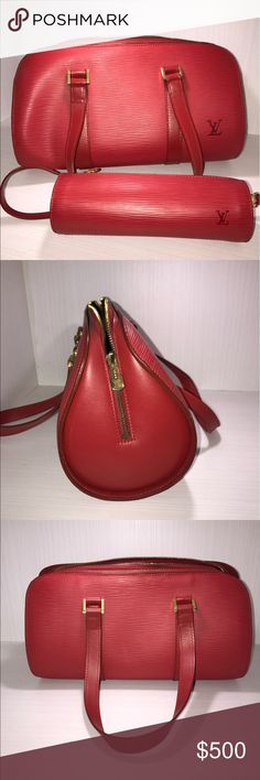 Red Louis Vuitton purse with extra little bag Purse Bags Shoulder Bags