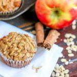 Low Fat Apple Oatmeal Muffins horizontal cinnamon stick apple oats