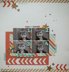 Magical Scrapworld: Faces, Stampin' Up! layout