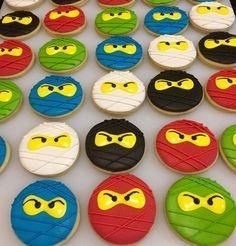 Lego NinjaGo sugar 4-5 cookies 1 dozen by MarianasBakery on Etsy