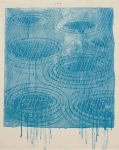 View Rain, from The Weather Series (S. By David Hockney; lithograph and screenprint in colors; Access more artwork lots and estimated & realized auction prices on MutualArt. David Hockney Prints, David Hockney Artwork, Kandinsky, Land Art, Cavalier Bleu, Water Drawing, Encaustic Painting, Culture, Linocut Prints