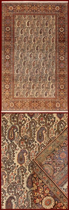 ANTIQUE FARAHAN SAROUK IRAN - 193 X 118 CM - 6.33 X 3.87 FT - COD. 141503457505