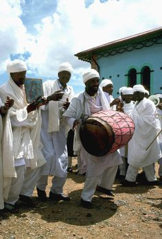 Dancing monks - Adi Segdo, Central - Eritrea