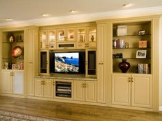 a little too formal, but a nice arrangement for a built-in entertainment center.