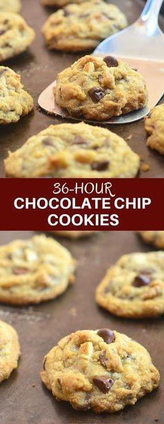 36-Hour Chocolate Chip Cookies are soft and chunky, moist and chewy on the inside for a whole new level of yum. The secret is the chill time! #cookies #chocolatechipcookies #chocolate #bakedgoods #dessert
