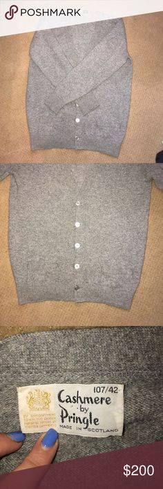 Pringle of Scotland cashmere sweater Grey button up cardigan cashmere sweater cashmere by pringle Sweaters Cardigans