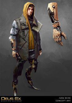 Inkertone: Deus Ex Mankind Divided: Ivan Berk concept