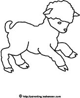 Cute baby lamb coloring page,#Easter or  spring printable