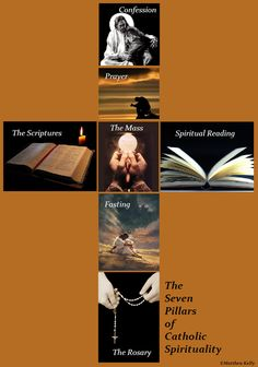 The 7 Pillars of Catholic Spirituality: Confession, Contemplation, The Mass, The Scriptures, Fasting, Spiritual Reading, The Rosary