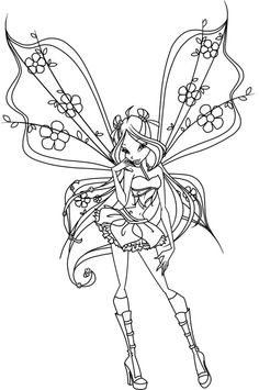 Winx Club Is Acting Funny Coloring Pages