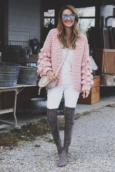 Oversized Sweater + The Best (affordable) OTK Boots | Karina Style Diaries Slouchy Boots, White Denim, Looking Stunning, Skinny Legs, Looks Great, Guys, Diaries, Sweaters, Pullover