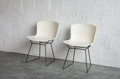 "Designer: Harry Bertoia Maker: Knoll Origin/ Circa: USA, 1960s Dimensions: 30"" H 20"" W 15"" D Material: Enameled Fiberglass and steel Price is per chair. —S"