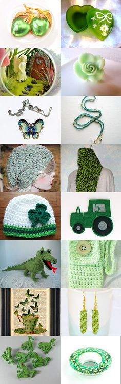 Gorgeous Greens by Paula on Etsy--Pinned with TreasuryPin.com