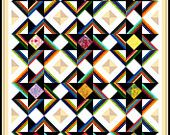 """EVOLUTION - 67"""" x 52"""" - Quilt-Addicts Pre-cut Patchwork Quilt Kit or Finished Quilt Single size"""