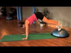 Bosu Ball Exercises | Stability Ball Exercises - awesome workout when working from home! Stability Ball Exercises, Core Stability, Bosu Workout, Cardio, Core Workouts, Bosu Ball, Tight Hip Flexors, Psoas Muscle, Tight Hips