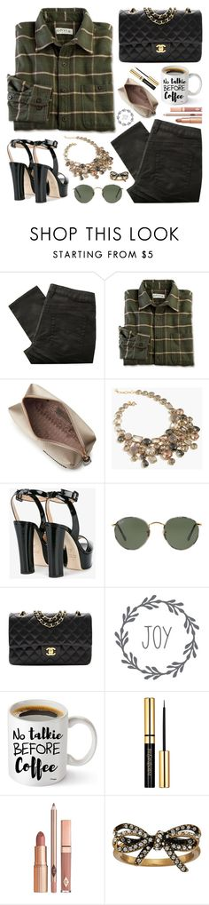 """""""No Talkie"""" by itsybitsy62 ❤ liked on Polyvore featuring Great Plains, Anya Hindmarch, J.Crew, Giuseppe Zanotti, Ray-Ban, Chanel, Dolce Vita and Marc Jacobs"""