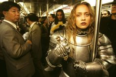 """Fiona Apple""""Fiona had always been shot as a waif – tendrils of hair blowing (dressed in lingerie), out in some sort of lily field. She told me she wanted to chuck that scene and be a warrior woman in a suit of armor."""" – Joe McNally, The Moment It. Shakira, Dark Fantasy, Apple Photo, Female Armor, Ex Machina, Suit Of Armor, The Victim, Marilyn Monroe, Persona"""