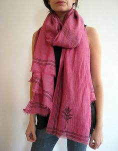 MOTHERS DAY SALE Zanna Scarf in Pink Cotton/Silk by wakeupspring, $60.00