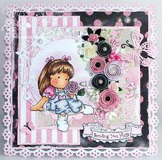 *Magnolia ROSE SCENT TILDA Rubber Stamp Sweet Crazy Love 2012