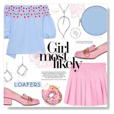 """""""Girl Most Likely ~ Loafers Time"""" by alexandrazeres ❤ liked on Polyvore featuring Peter Pilotto, Gucci, Henri Bendel, jewelry, loafers and revekarose"""
