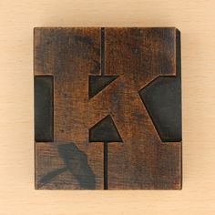 wood k #alphabet #type