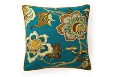 Jazmine 20x20 Cotton Pillow, Multi on OneKingsLane.com