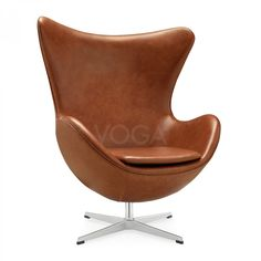 Egg Chair with piping brown