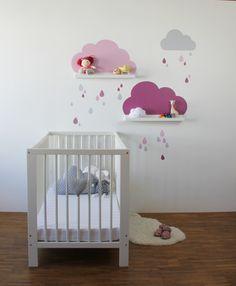 Süße Deko Nicht Nur Fürs Babyzimmer. Die Wolken Wandtattoos Passen Perfekt  Zu Den IKEA Bilderleisten