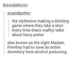 He's obsessed. Stupid Draco we can see right through you.