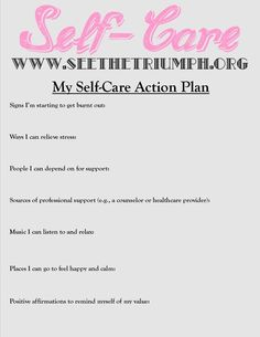 Self Care Worksheets Pdf - Develop A Self Care Action Plan To Make Caring For Yourself A Self Care Worksheet Lifes Carousel Making A Self Care Plan For You And Your Clients Self. Mental Health Activities, Counseling Activities, Self Care Activities, Good Mental Health, Mental Health Care Plan, Music Therapy Activities, Compassion Fatigue, Self Compassion, Wellness Recovery Action Plan