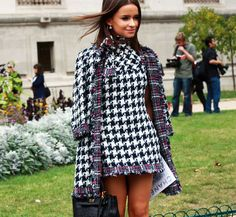 Chanel Houndstooth Dress & Jacket