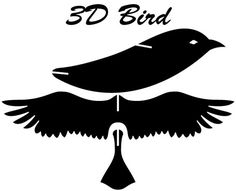 DIY Bird 3D Card / Kirigami pattern