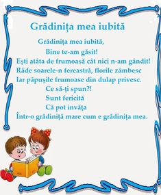 Poezie - Gradinita mea iubita Experiment, Ocean Photography, Kids Education, Nursery Rhymes, Pre School, Montessori, Activities For Kids, Kindergarten, Parents