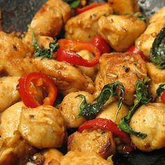 Chicken Stir Fry with Sweet Basil