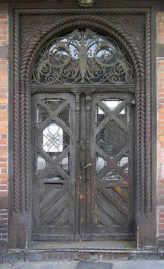 Door in Torun, Poland Cool Doors, Unique Doors, Knobs And Knockers, Door Knobs, Entrance Doors, Doorway, Gates, Building A Door, When One Door Closes