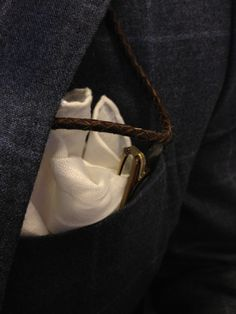 The classic linen hand rolled pocket square.