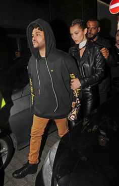 The Weeknd wearing Mr. Completely Hampden Jeans in Clay and Air Jordan 10 Retro Ovo