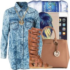 5-2-15 by purplecookiedimples on Polyvore featuring Noisy May, Qupid, MICHAEL Michael Kors and Versace