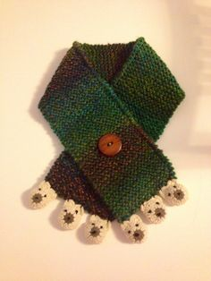 Baby knitted scarf