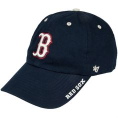 Boston Red Sox - B Logo Clean Up Adjustable Navy Baseball Cap