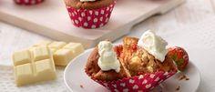 Witte chocolade aardbeien cupcakes - klik hier