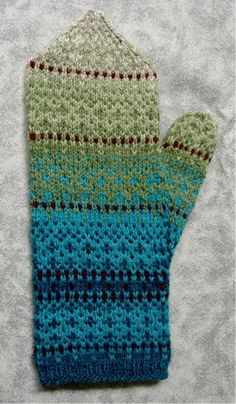 Winterberry Fair Isle Mittens Pattern by Anne Bosch The bottom bit Mittens Pattern, Knit Mittens, Knitting Socks, Hand Knitting, Fair Isle Knitting Patterns, Fair Isle Pattern, Knitting Projects, Knitting Tutorials, Knitting Accessories